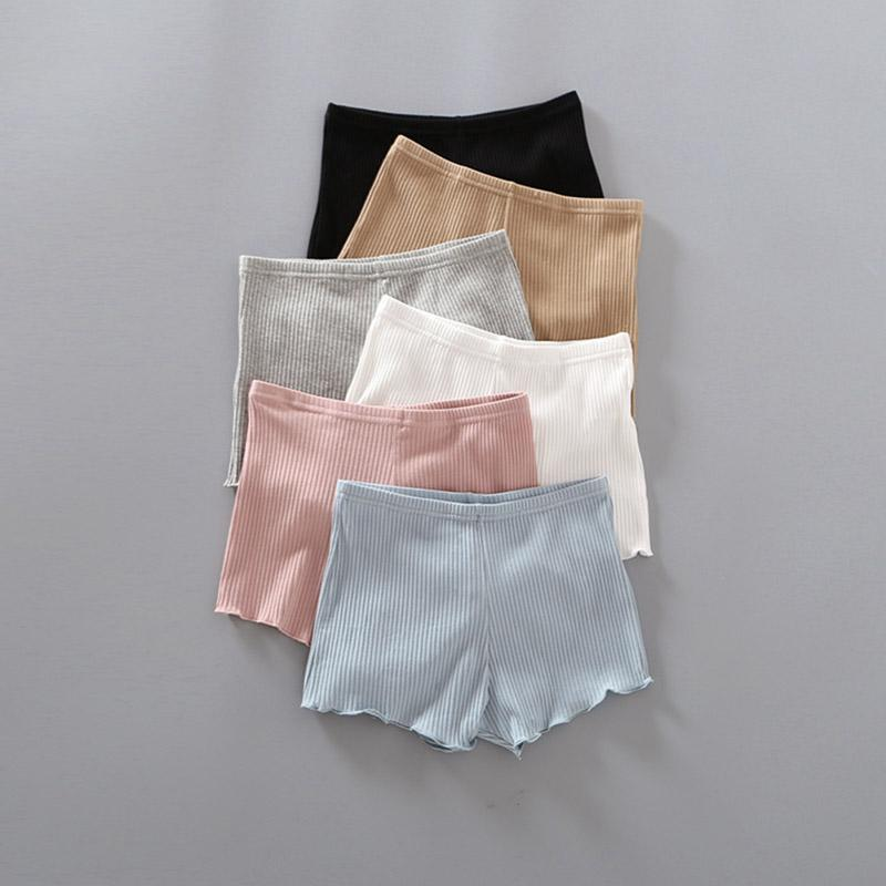 ad3cb9638 Algodón 2019 Nuevas mujeres Pantalones cortos de seguridad de algodón suave  sin costura Venta caliente Verano Bajo la falda Pantalones cortos Medias ...