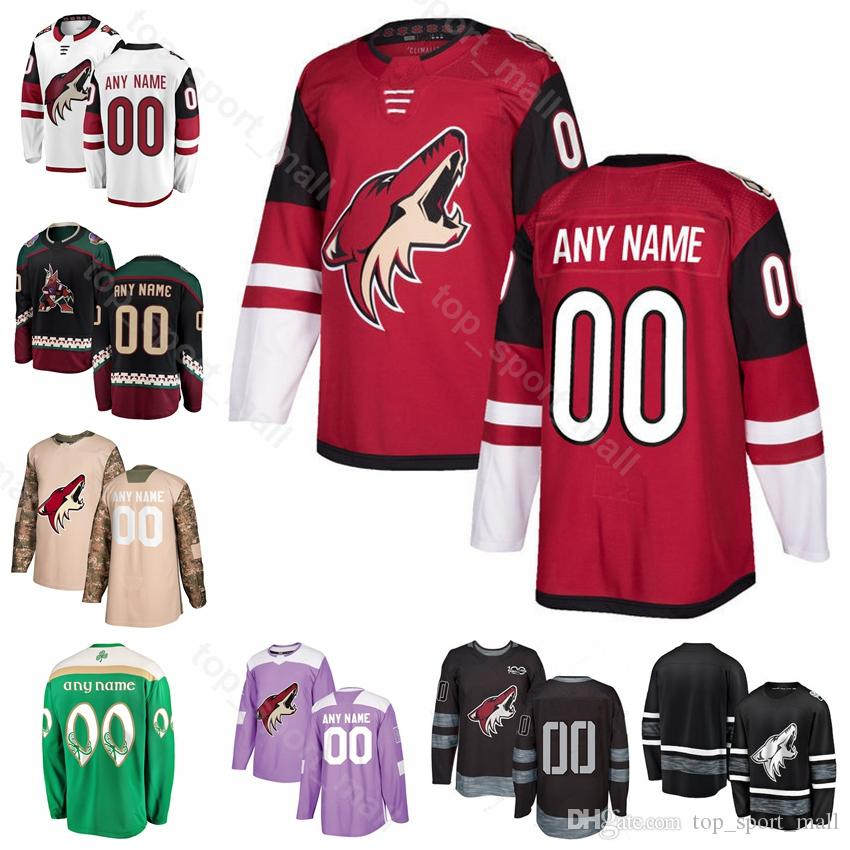timeless design a86aa 8f3b9 Men Kids Women Arizona Coyotes 9 Clayton Keller Jersey Alex Galchenyuk  Shane Doan Vinnie Hinostroza Richard Panik Ice Hockey Red White Black