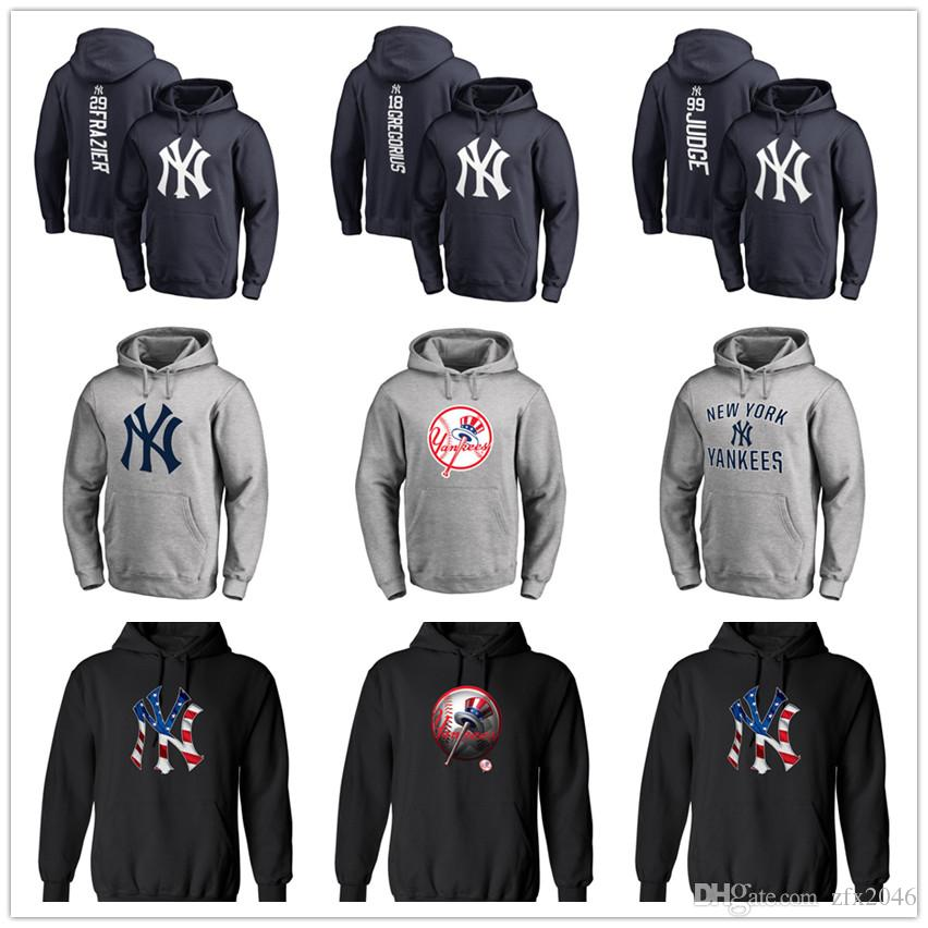 New York mens designer hoodies Yankees Branded Primary Logo Pullover Hoodie With Splicing Draw string Full Sleeves hoody Sweatshirts Printed