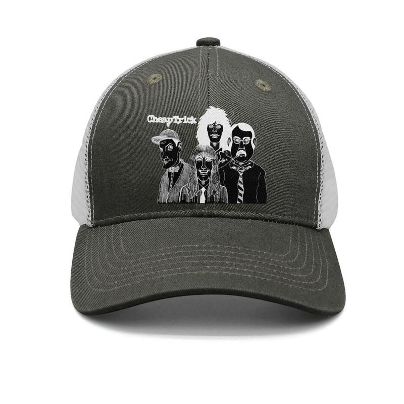 105431766efc87 Cheap Trick Black And White Army Green Mens And Women Trucker Cap ...
