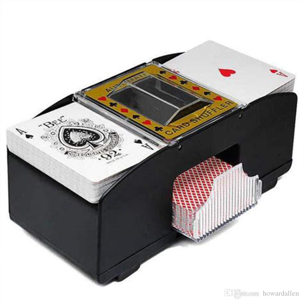 Automatic Poker Card Shuffler Playing Battery Operated Shuffling Machine Gift Funny Family Game Club Accessory