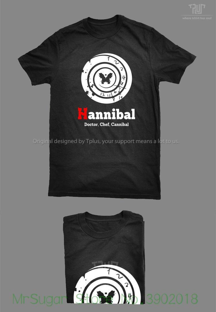 7ba5dac4 Tv Hannibal Clock Design Men Unisex 5.3oz Ringspun T Shirt 100% Cotton Personalized  T Shirt Custom T Shirt Shirts Designer Designer White T Shirts From ...