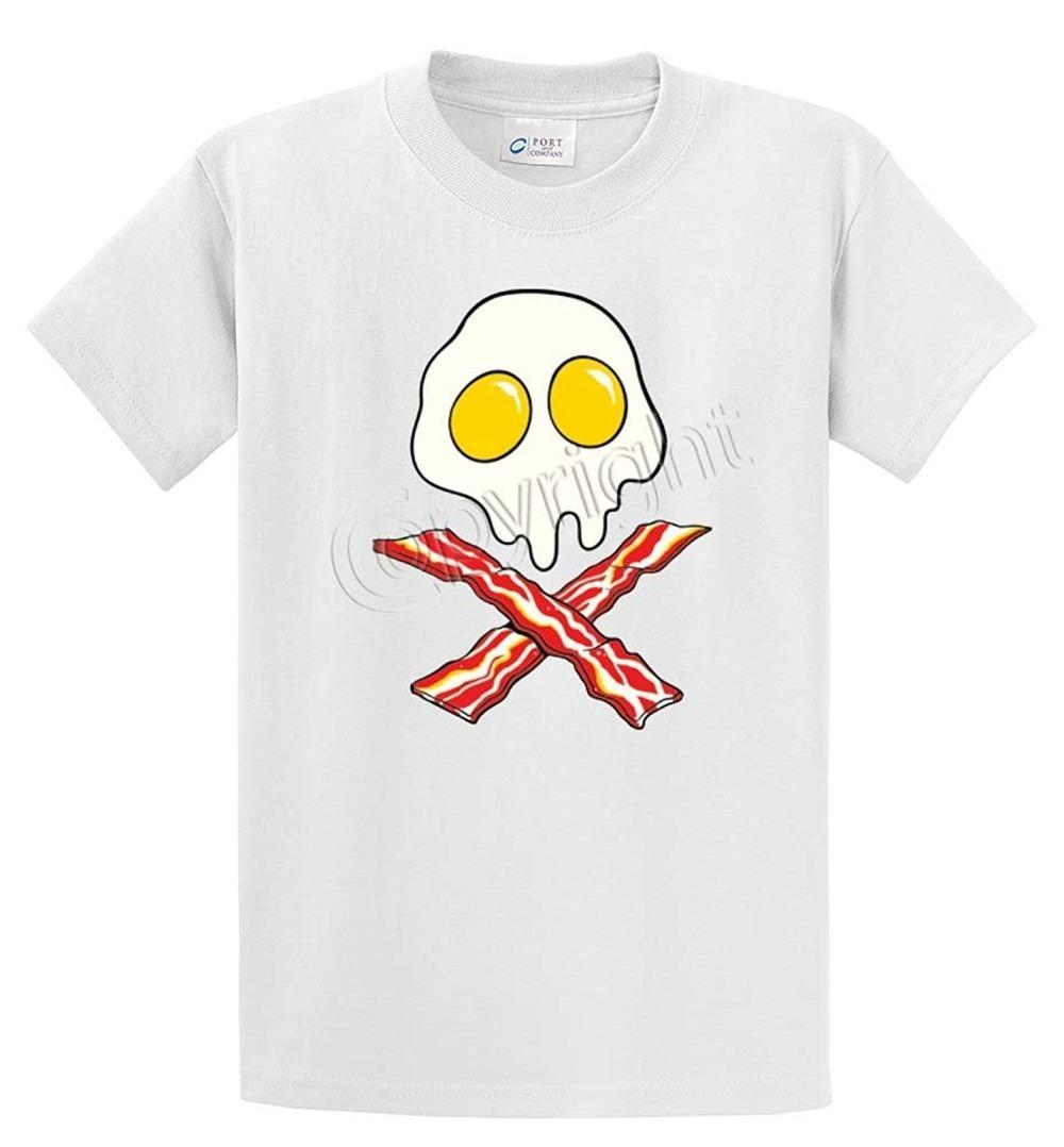 33483e6e473e Fashion T Shirts Crew Neck Short Eggs Skull Bacon Crossbones Printed Tee  Shirt Office Mens Tee Crazy T Shirts Online Cool Looking T Shirts From  Jie58, ...