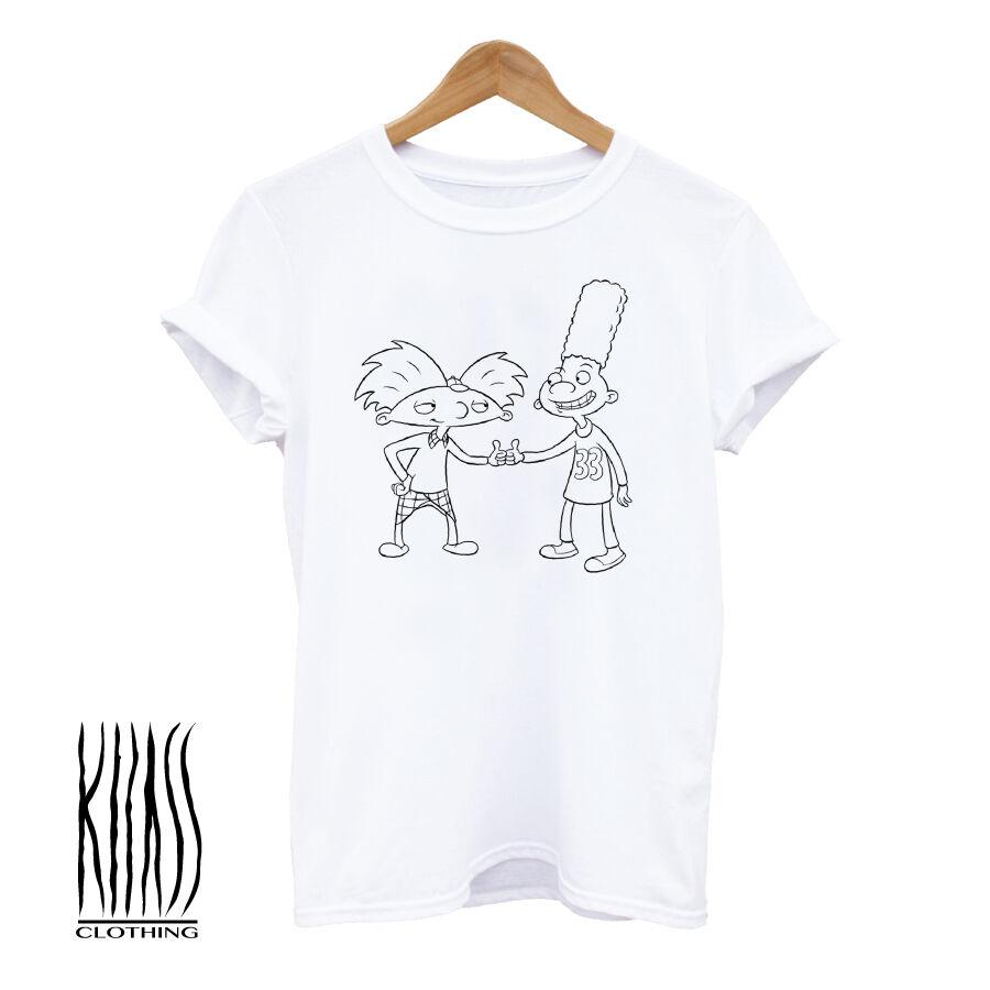 aebea91139d7 KLLASS, Hey Arnold, T-shirt, Men's T shirt,Party,Hipster,90's,nickelodeon,stoner  Funny free shipping Unisex Casual Tshirt top
