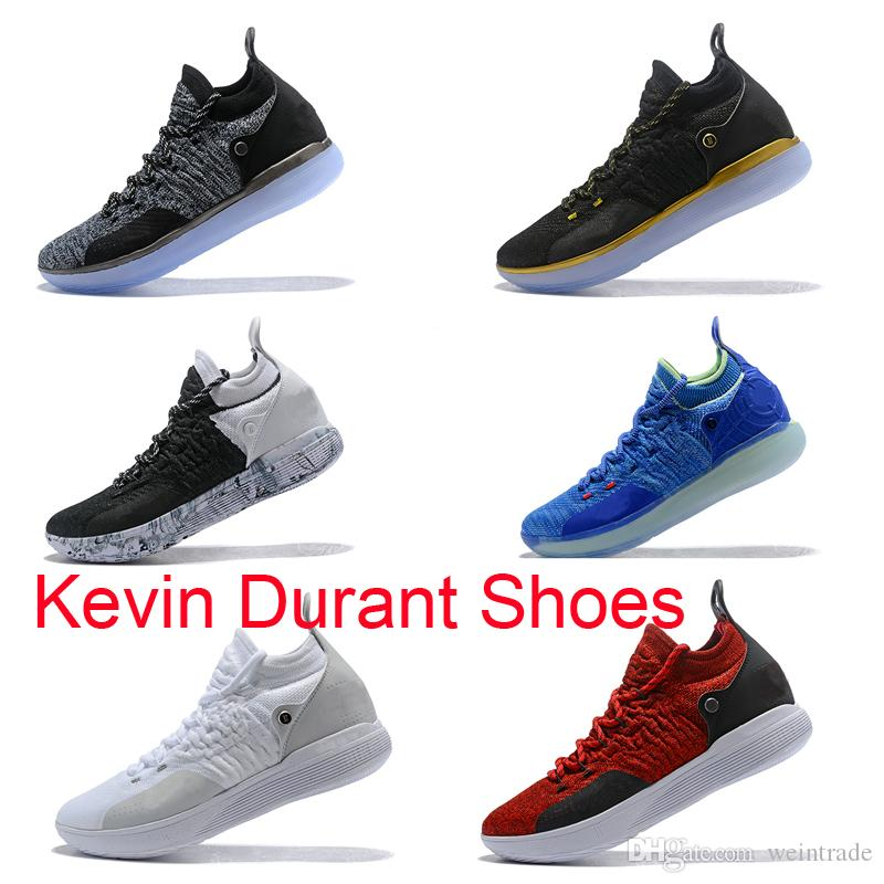 66662c4f671 2019 New Kevin Durant Kd 11 Shoes Xi Black Twilight Oreo Multicolor Bhm  Designer Basketball 11 Shoes For Men Us Size 7 12 From Weintrade