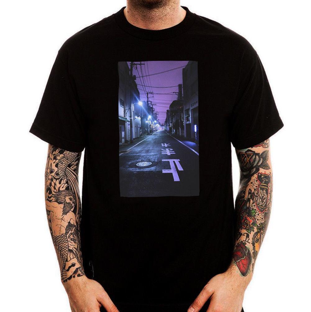 957c488eb25d Compre Japón Dark Street Night Tokyo Osaka Vaporwave Estética Camiseta De  Algodón Para Hombre Camisetas De La Mejor Marca Jeans Imprimir Camiseta  Clásica De ...