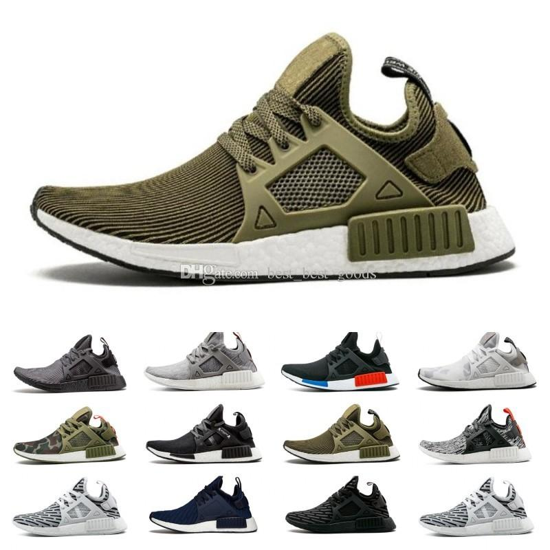 new products 47b15 8712d NMD XR1 Running Shoes for men Mastermind Japan Olive green Camo Glitch  Black White Blue Pack OG Classic men women sports Sneakers 36-45