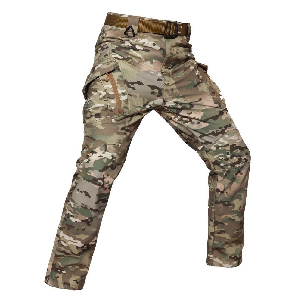9c46dea0668e0 Shanghai Story Men's Army Cargo Pants SWAT Combat Hike cargo Trouser  softshell Pants Men Tactical Fleece. Store-wide Discount