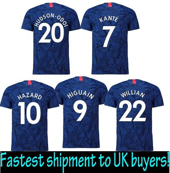 new product 6d84d ac3e1 Fastest Shipment to UK !HUDSON-ODOI 2020 Camiseta chelsea Eden Hazard  Chandal Football chelse futbol XXL Maillots de foot 2XL soccer jerseys
