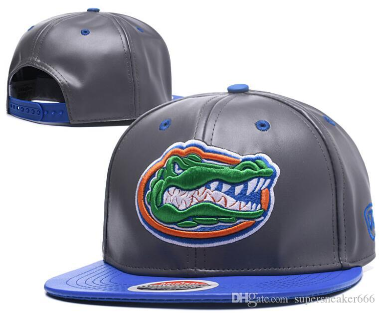 580d40d40bdda Wholesale Florida Gators Snapbacks NCAA hat Leather America Sports Hat  fashion outdoor cap customized hats 10000+ sytles Drop shipping 05