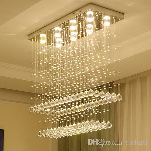 Moderne Kronleuchter Kristall Lampen Deckenleuchten Runde Luxus Led Kronleuchter Licht Deckenleuchten Fur Hohe Decken Wohnzimmer Schlafzimmer