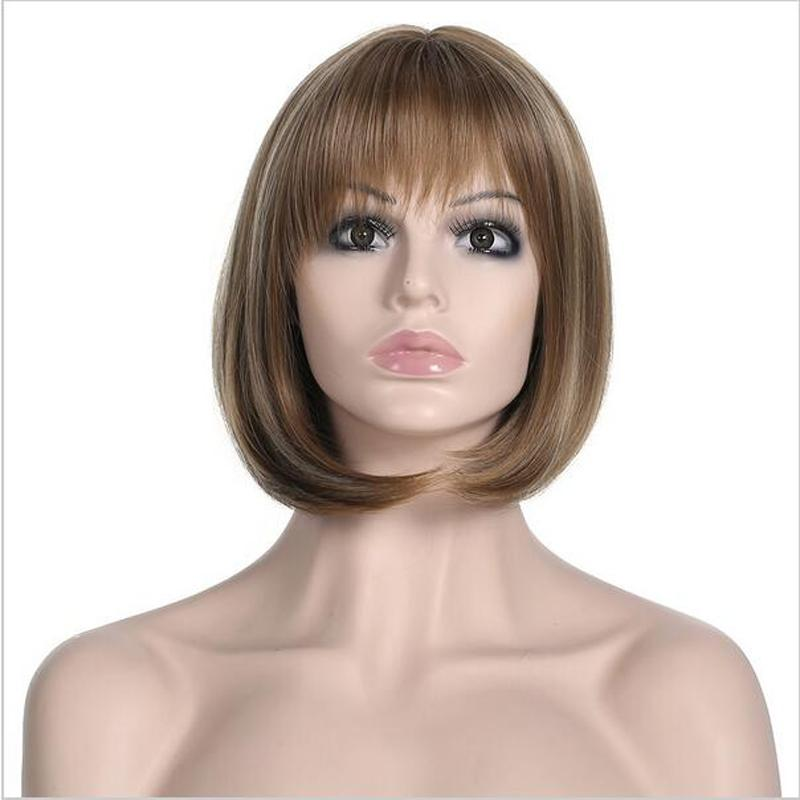 New Fashion Women S Hair BOB Wig Short Straight Mixed Color Mother S Gift  Wig Best Hair Wigs Wigs Black Women From Chinabaobei bc38f7d06e