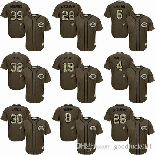 Hommes 19 Joey Votto Jersey Cincinnati 17 Chris Sabo 11 Barry Larkin 14 Pete Rose 30 Maillots de baseball broderie Cousu