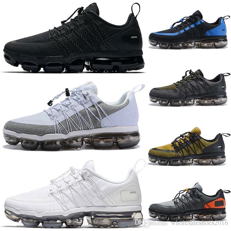 67deeeffe7657 2019 Run Utility Running Shoes For Men Triple White Black REFLECTIVE ...