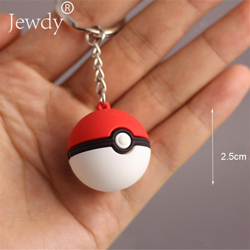 3d Anime Go Key Ring Ball Keychain Pocket Monsters Key Holder Pendant Mini Charmander Squirtle Bulbasaur Figure Toy 2017