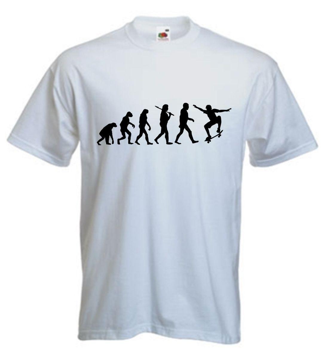 3107638569f Evolution Of Skate T Shirt Skating TShirt Skater T Shirt Skateboard S XXL  Style Round Style Tshirt Tees Custom Jersey T Shirt Clever Funny T Shirts  Funny ...