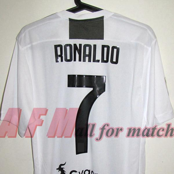 new product 46734 5741c RUGBY JU 18/19 Match Worn Player Issue home Shirt Jersey Short sleeves  DYBALA RONALDO Football Rugby Custom Patches Sponsor