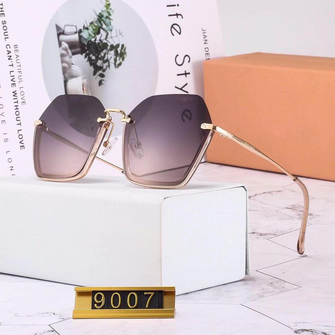 fa7aaf1c42df New Luxury Designer Men Sunglasses With Box Miu Brand 9007# Eyeglasses  Outdoor Shades Half Frame Fashion Lady Sunglasses Mirrors For Women Sunglasses  Shop ...