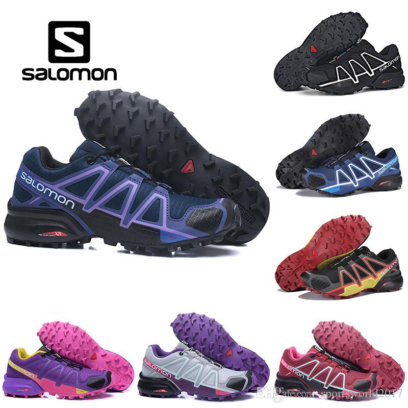 Großhandel Salomon Neueste Mens Solomons Speedcross 5 CS Trail Freizeitschuhe Leichte Turnschuhe Navy Solomon V Zapatos Wasserdichte Mann Sportschuhe