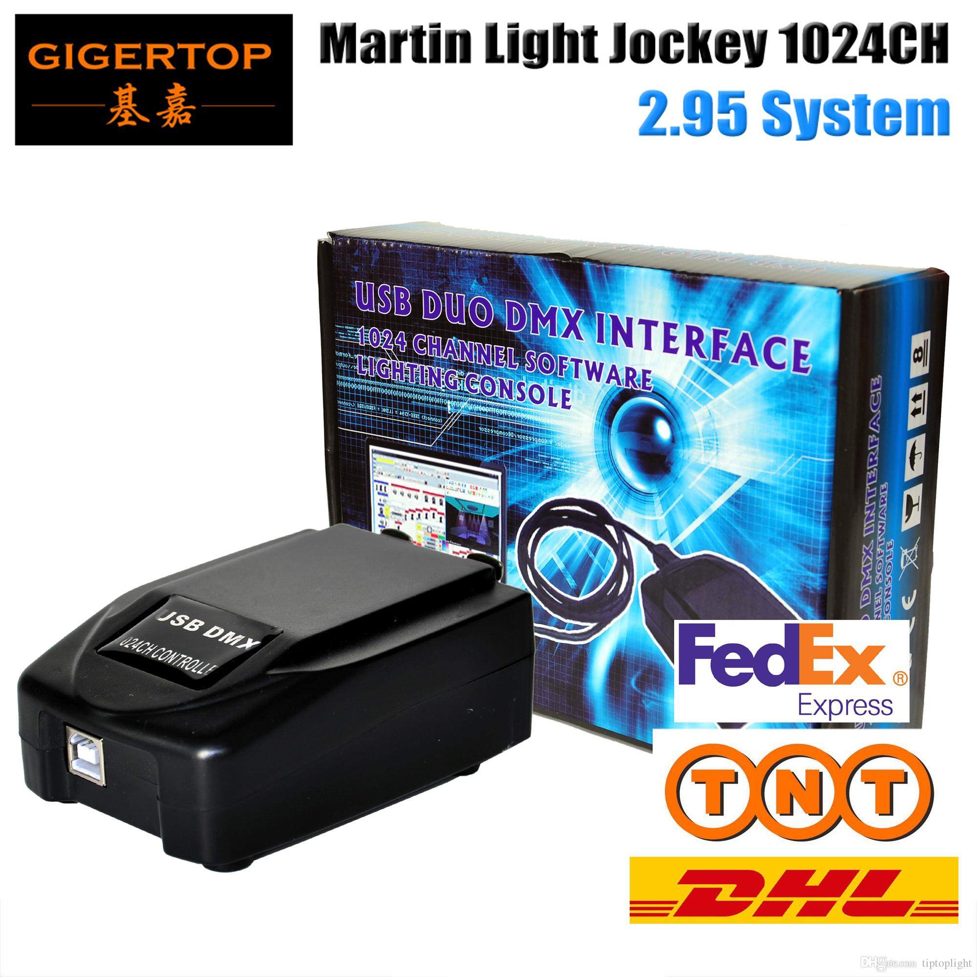 TIPTOP 3PIN USB 1024 Martin Lightjockey Led Regolatore di luce USB Martin light jockey Controller USB DMX512 Stage Light Controll