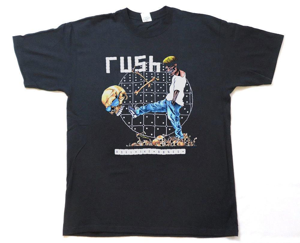 RaRe 1991 RUSH vintage rock concert tour t-shirt MINT 80's Band  (reprint)ALICE IN CHAINS