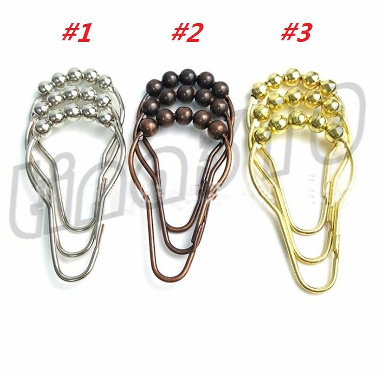 2019 New Shower Curtain Rings Hooks Metal Bathroom Clip Easy Glide Polished I507 From Andyt66 223