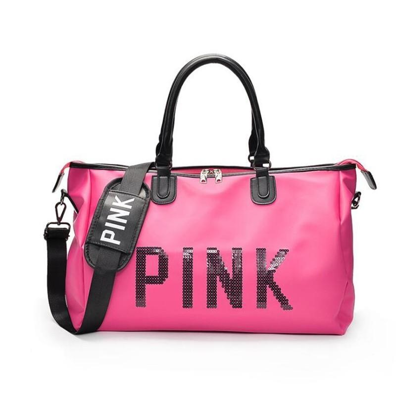 f7b2f2693f01 Weekend Women Large Capacity Travel Bag Pink Sequin Vs Gym Tote Luggage  Organizer Big Shoulder Bag Duffle Waterproof Handbags Best Gym Bags Large  Duffel ...