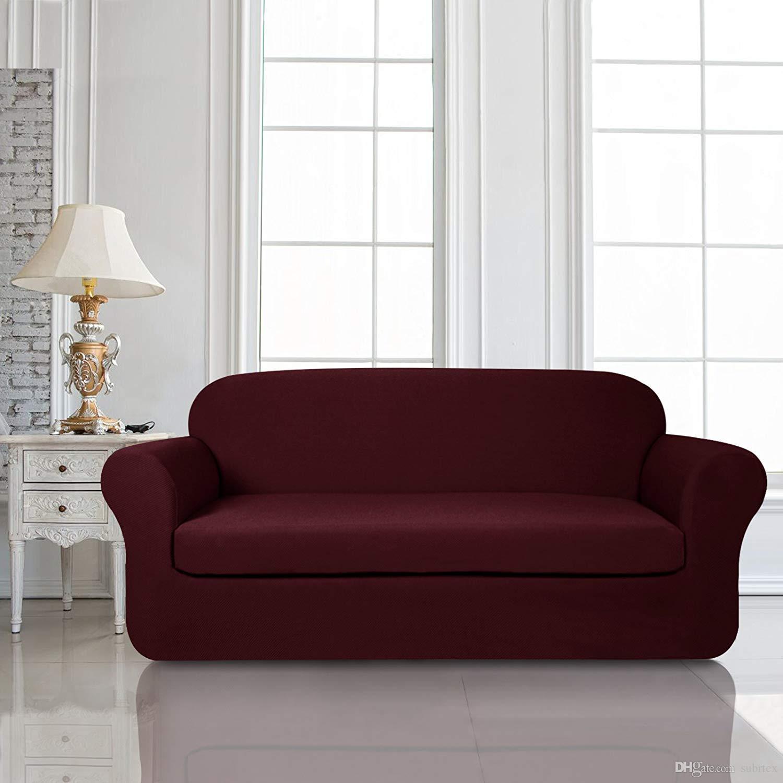 Subrtex Sofa Knit Jacquard Spandex Stretch Sofa Slipcover Seat ...