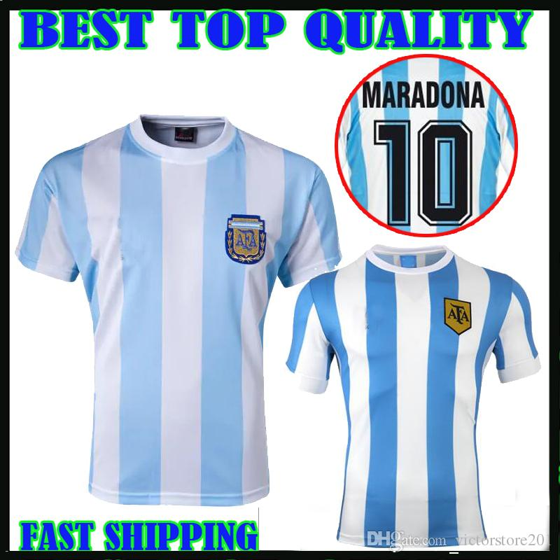 6dcfacb94 2019 86 Argentina Retro Soccer Jersey Maradona 1986 Vintage Classic 78  Argentina Maradona 1978 Football Shirts Maillot Camisetas De Futbol From ...