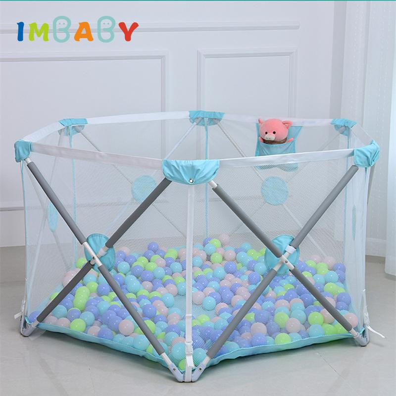 IMBABY Not Installation Baby Playpen Fence Safety Barrier For 0-6Y Kids  Children Playpen Newborns Game Tent For Infants