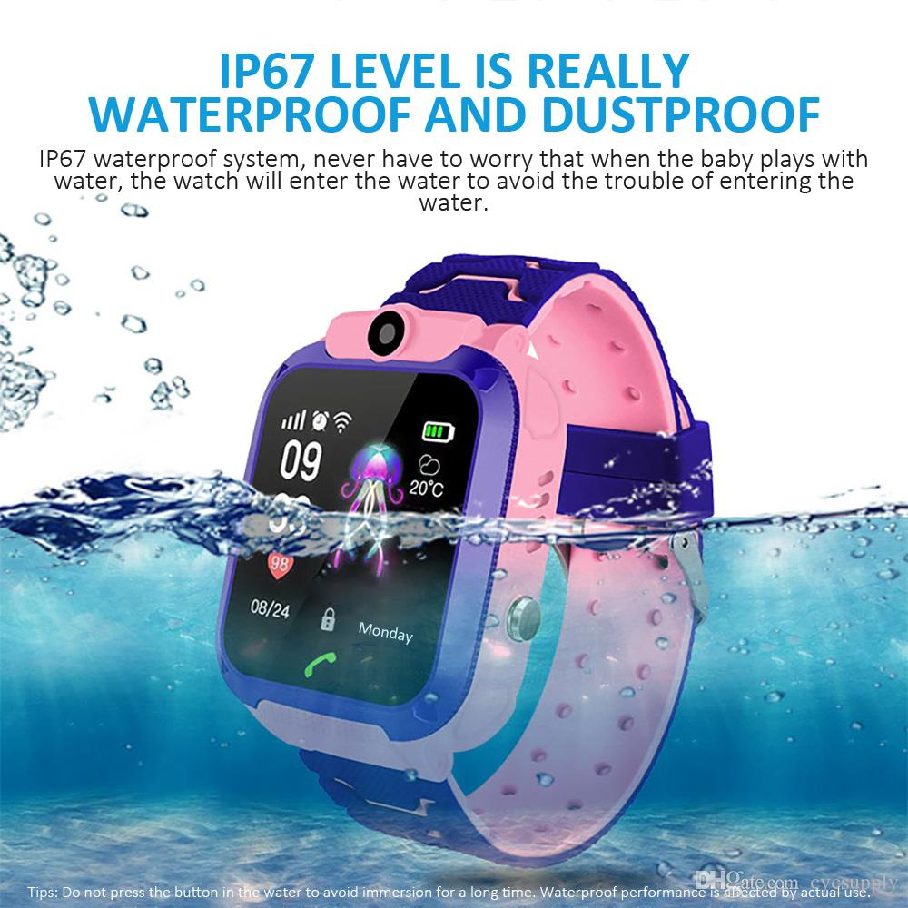 Waterproof Q12 Smartwatch Multifunction Children Digital Wrist Watch Baby Watch For IOS Android Kids Toy Gift DHL