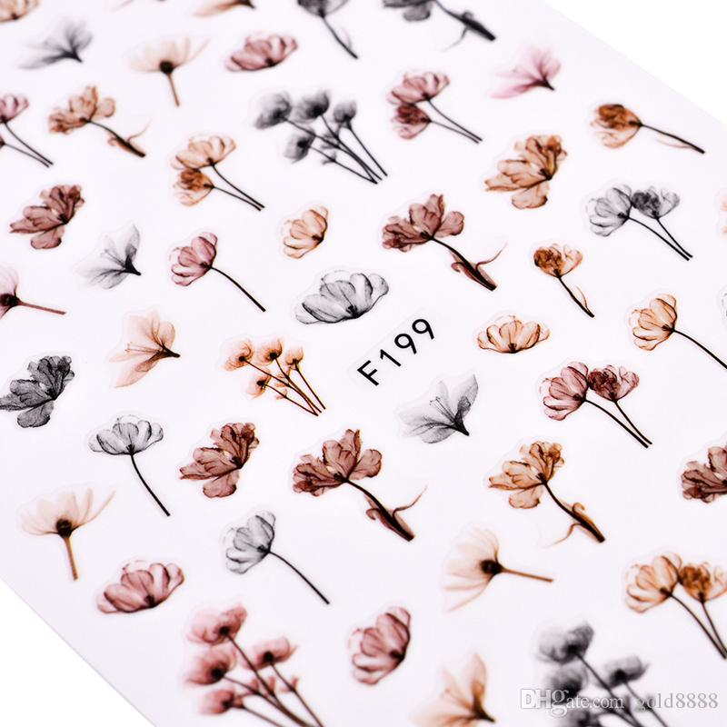 3D Embossed Nail Sticker Flower Adhesive DIY Manicure Slider Nail Art Tips Decorations Decals 2019 New