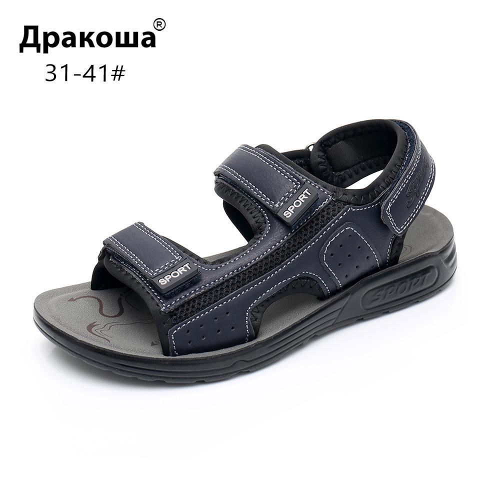 f5fb7134 Compre Apakowa Junior Boys Open Toe Three Strap Sandalias Deportivas Playa  De Verano Zapatos Para Caminar Caminando Por El Agua Mayores Adolescentes  Boy ...