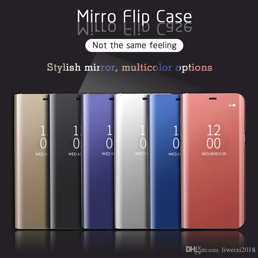 Clear View Smart Phone Case For OPPO RENO Find X F11 Pro Flip Mirror  Leather Cases For OPPOF9 F7 F5 Cover