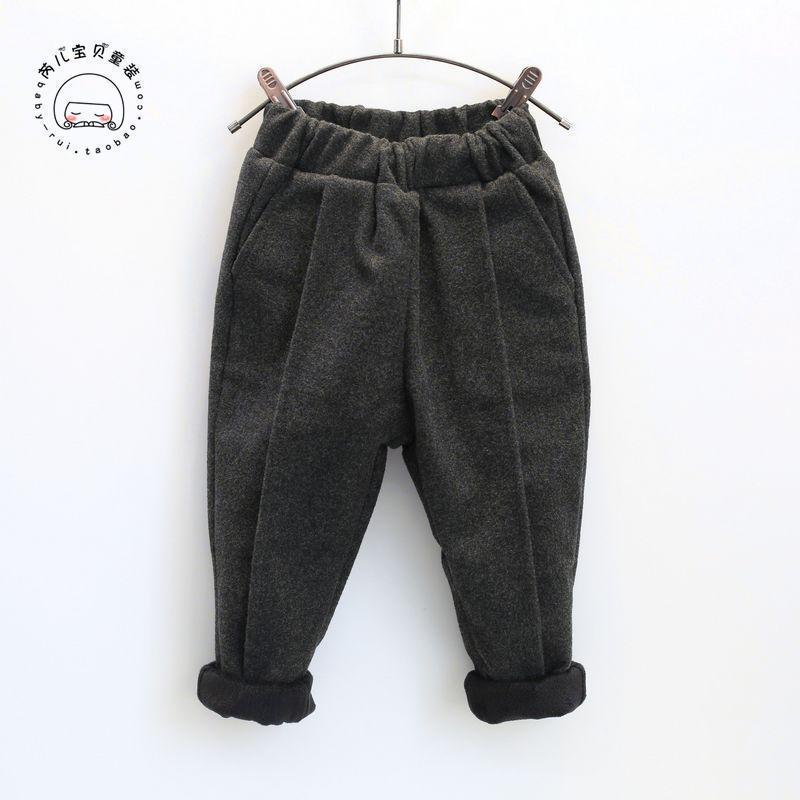 fa421b5522 2019 autumn girl thick warm fleece pant line skull harem boys boy leggings  baby girls knickers nissen tights fur trousers pants