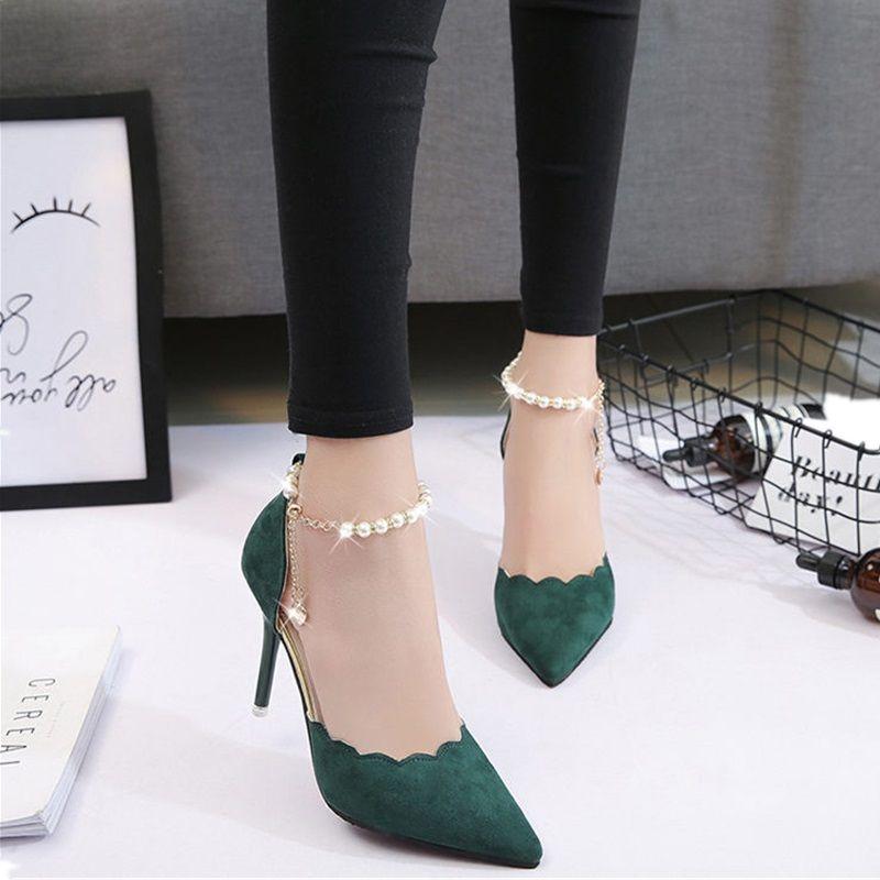 22e6db61f1 Compre Sapatos De Salto Alto Moda Feminina Sexy Oco Com Sandálias 2018  Verão Versão Coreana Do Fino Respirável Sapatos Mulheres Bombas De  Walon1234