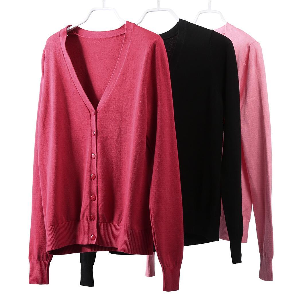 31644027f07 Women Cardigan Knitted Sweater Winter Spring Warm Slim Jacket Top ...