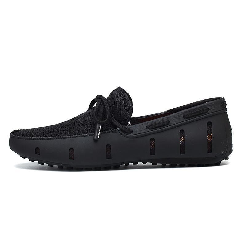POOLOOP Hombres Duraderos Mocasines de Encaje HOMBRES Er Zapatos de Playa Casuales Zapatos de Conducción Transpirables para Hombres Mocasines de Malla