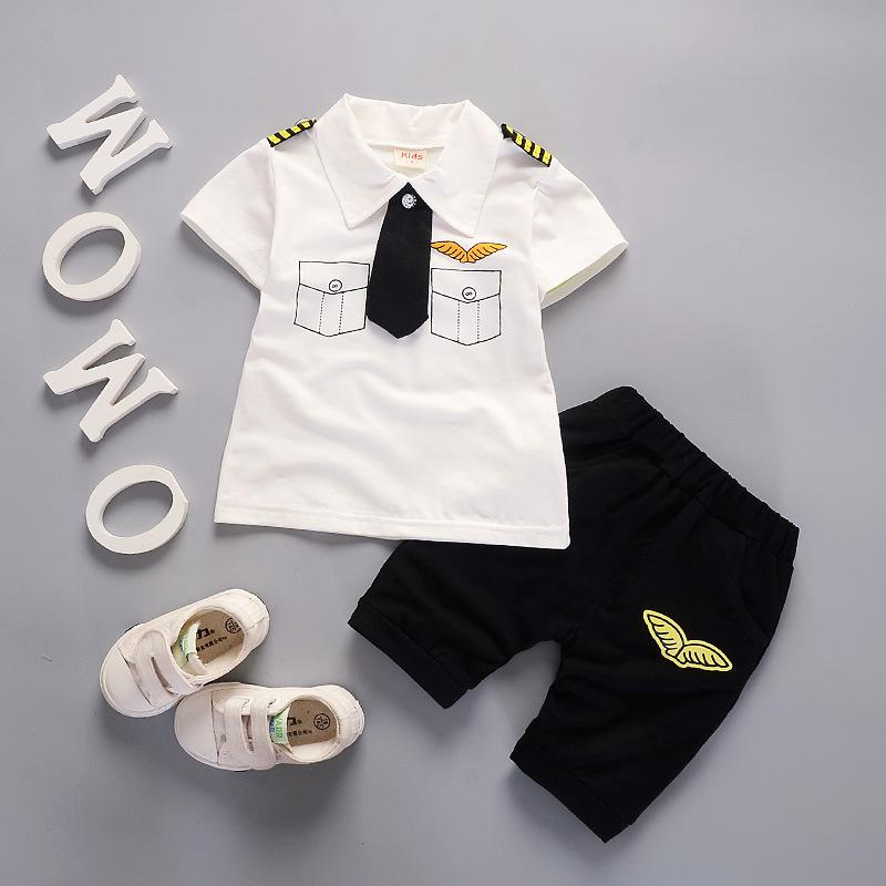 57f55d959 2019 Good Quality 2019 Summer Baby Boys Clothes Sets , Navy Pullover Sports  Suit, Hot Sale New Casual Infant Boys Sports Suit From Textgoods05, ...