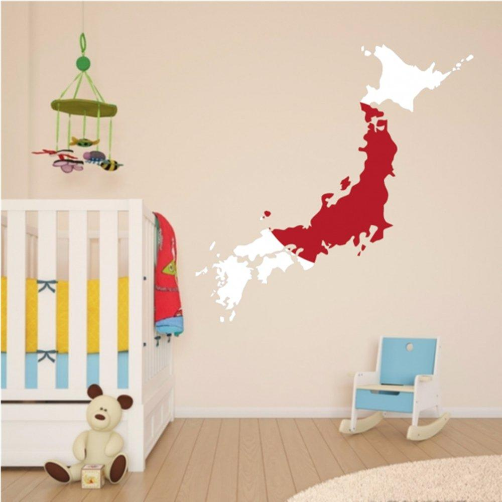 Diythinker japanese flag map of japan wall vinyl sticker custom home decoration wall sticker wedding decoration pvc wallpaper fashion design wall art murals