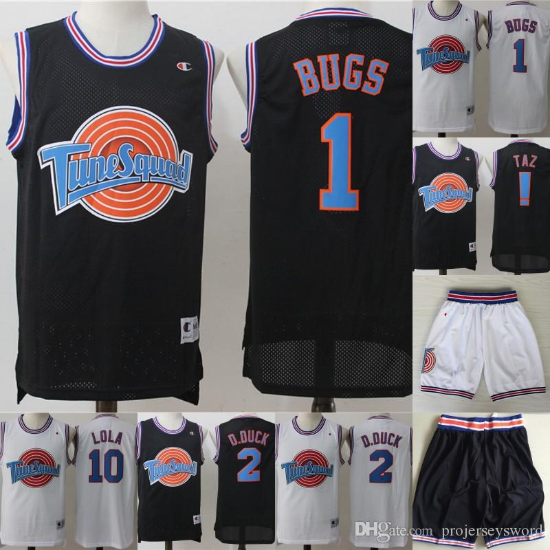 d6620c06dfe 2019 Mens Tune Squad Space Jam Movie Jersey 1 Bugs Bunny 2 Daffy Duck 1/3  Tweety Bird 10 Lola Bunny 100% Stitched Basketball Jerseys From  Projerseysword, ...