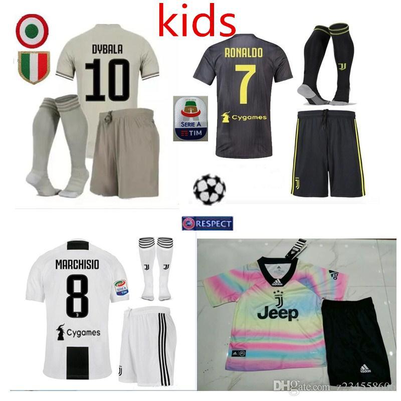 e2d55c457be 2019 Top 2019 Juventus Home Soccer Jersey 18 19#7 RONALDO DYBALA Soccer  Shirt MARCHISIO MANDZUKIC PJANIC HIGUAIN Football Uniform Sales Kids From  Z234558606 ...