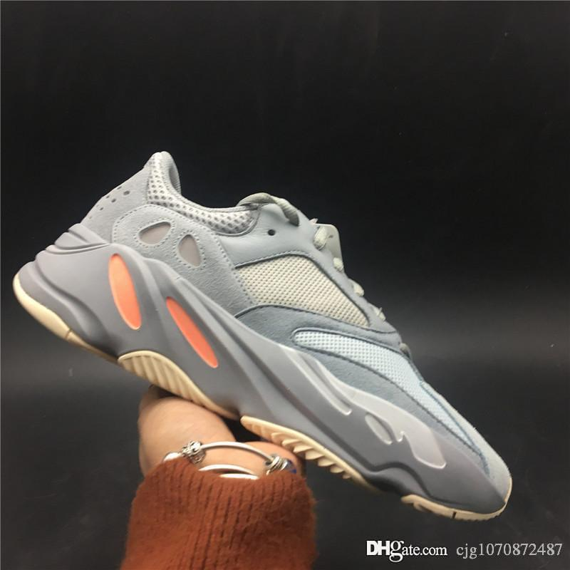 2019 Authentic 700 Inertia Wave Runner Designer-Laufschuhe von Kanye West Blau Grau Herren Damen Outdoor-Turnschuhe APE779001 Mit Schachtelgröße 36-47