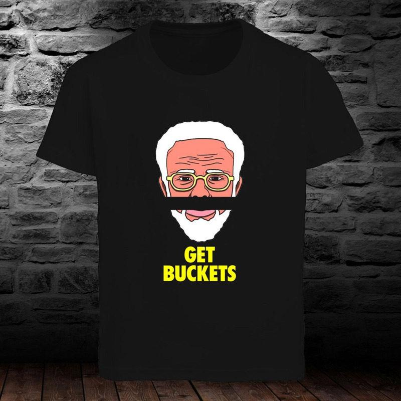 163f58a6 Get Buckets Uncle Drew Kyrie Irvin Basketball Men's Black T-shirt S to 3XL