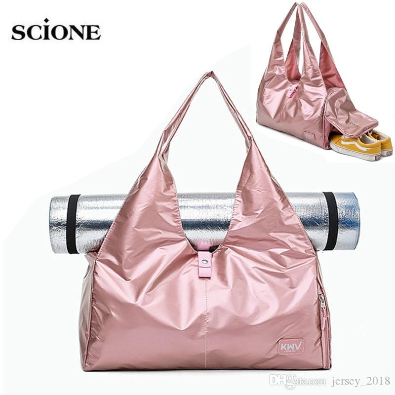 Gym Bags Fitness Gym Male Bag Travel Handbag For Women Over The Shoulder Nylon Large Yoga Mat Bags For Sport Shoes Sa De Sporttes Sports Bags