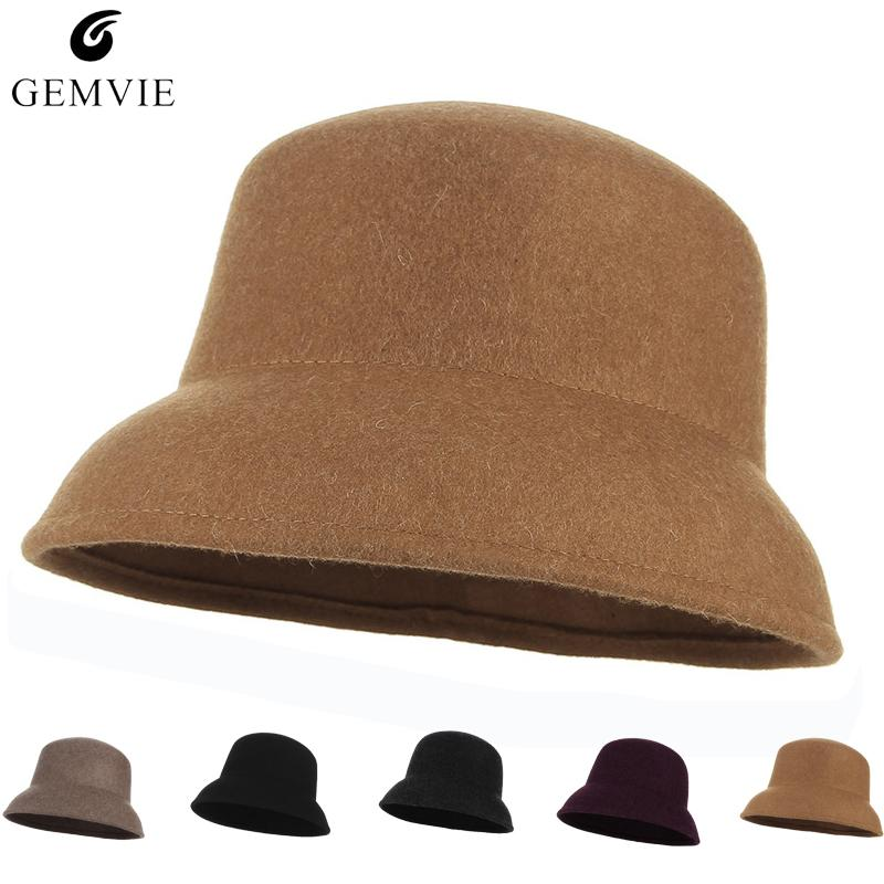 b4039cbe90c03 Fall Winter Women Hats Caps Elegant Bucket Hat Trendy Solid Color ...