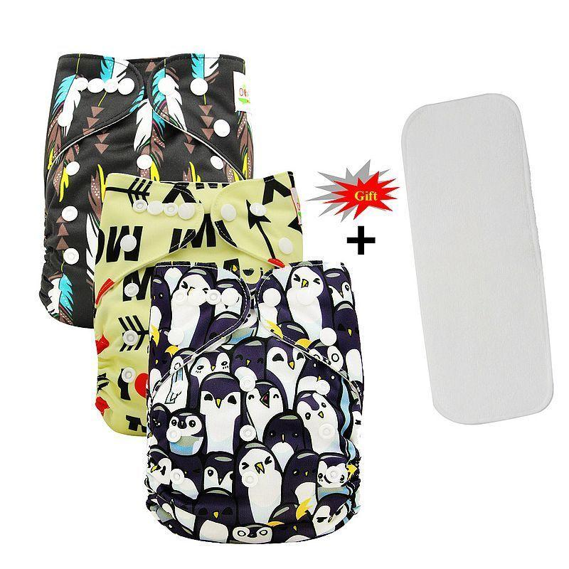 Ohbabyka Washable Nappies Baby Cloth Diaper Cover Couche Lavable Reusable Diaper Infant Panties Baby Pocket Diaper+Insert