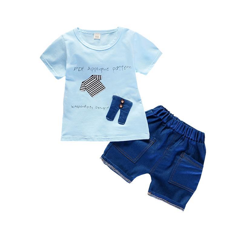 54966174854a Acquista Moda Abbigliamento Bambini Vestiti Neonati Maschi Ragazze Cartone  Animato T Shirt Pantaloni 2 Pz   Set Infantili Estate Outfit Bambini Tute 1  4 Yrs ...