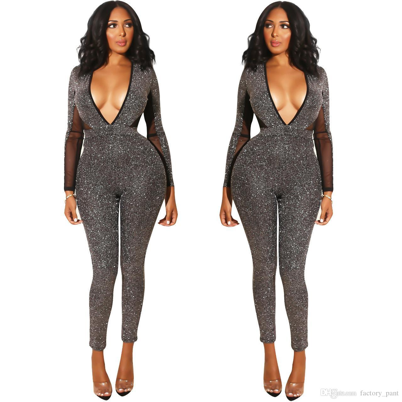 Women's Clothing Backless Playsuit Party Jumpsuit Fashion Women Body Femme Jumpsuit Playsuits Bodysuit Women Sexy Jumpsuit Women Selling Well All Over The World