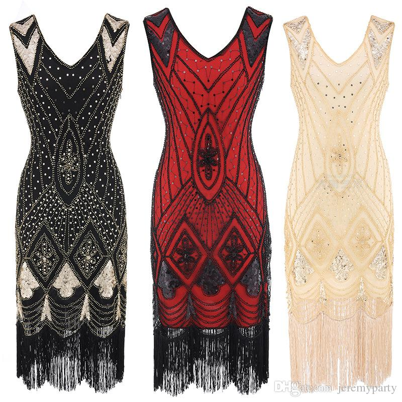 2d825c58 2019 QUALITY Women 1920s Gatsby Cocktail Sequin Art Deco Flapper Dress  Embellished Art Deco Roaring 20s Party Dresses From Jeremyparty, $29.14 |  DHgate.Com